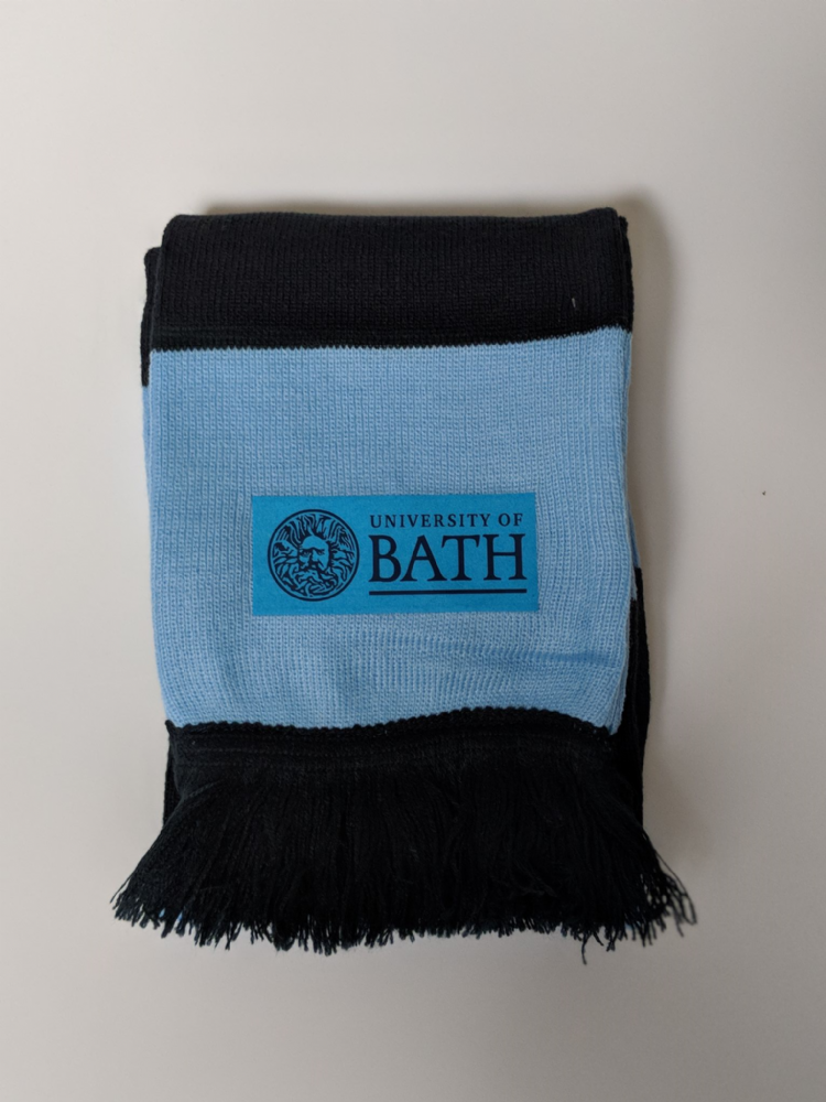 University of Bath Stadium Navy/Sky Scarf